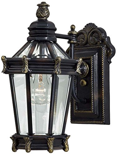 Minka Lavery 8937-95 1 Light Outdoor Wall Mount, Heritage with Gold Highlights Finish