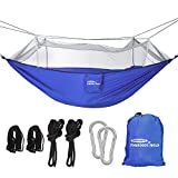 Forbidden Road Hammock Tent Hammock Mosquito Net    Anti Mosquito High density polyester mosquito net prevent mosquitoes flying into the outdoor hammock and provide campers or hikers a quite and comfortable sleeping or relaxation.    Strong and Sa...