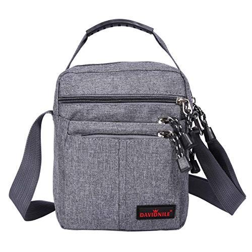 Men's Messenger Bag-Crossbody Shoulder Bags Travel Bag Man Purse Small Sling Pack for Work Business (1893-Grey)