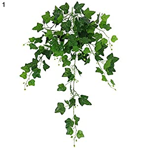 Guoainn 1Pc 110cm Hanging Artificial Fake Ivy Green Leaves Vine Wedding Party Home Decor Add Bauty to Your Life 77