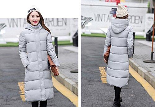 Grey Women's Down Bigood Jacket Hooded Parka Long Camouflage Coat Simple Warm 6nwUvq