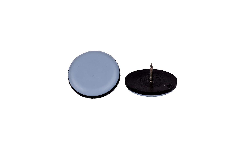 DFM/ 16/Redondo Con clavo Di/ámetro 22/mm//–/5/mm de grosor//recubrimiento de PTFE//teflongleiter//suelo para sillas /Tacos para muebles