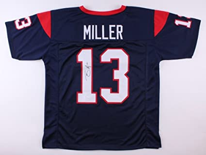 cheaper a67b6 9b852 Braxton Miller Signed Autographed Houston Texans Jersey with ...
