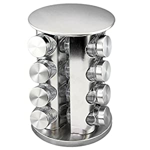 MORADIYA FRESH (LABEL) Stainless Steel Masala Spice Rack Stand Set – 16 Piece