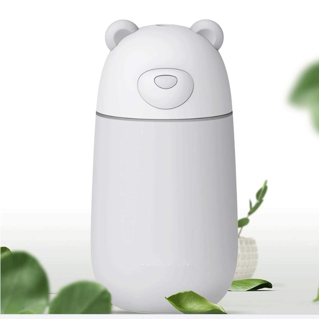 LC_Kwn Humidifiers for Room Bedroom, Cool Mist Ultrasonic Air Humidifier for Home Whole House Babies Room (Color : White)