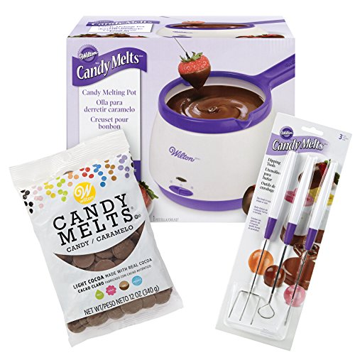 Wilton Candy Melts Candy Melting Pot and Candy Dipping Tools Set, (Candy Dipping)