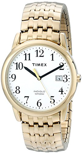 Timex Men's T2P293 Easy Reader Gold-Tone Dressy Expansion Band Watch