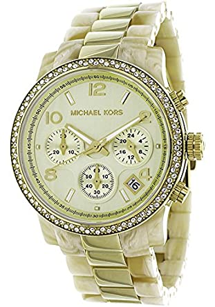 94d16c832f53 Image Unavailable. Image not available for. Color  Michael Kors Women s  Gold Dial ...