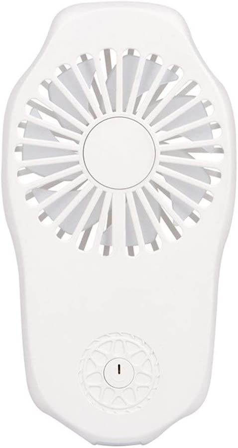 Fan Ultra-Thin Silent Fan Portable Rechargeable Mini Fan USB 2 Gear Small Fan Outdoor Home Mini Portable Cooling Fan Color : White