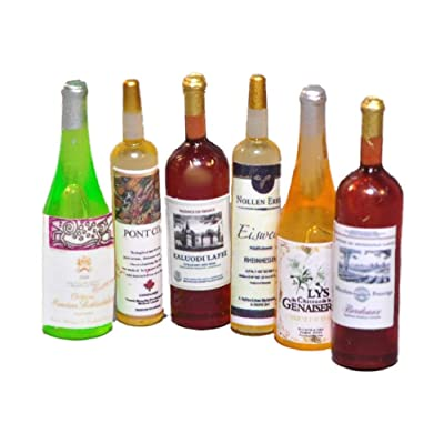 Melody Jane Dolls House Selection of Wine Bottles Miniature Bar Pub Dining Room Accessory: Toys & Games