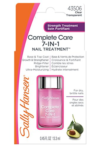 Sally Hansen Treatment Complete 7 in 1 Salon Manicure, 13.3 ml Complete Nail Care Kit