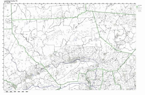 Lycoming County, Pennsylvania PA ZIP Code Map Not -