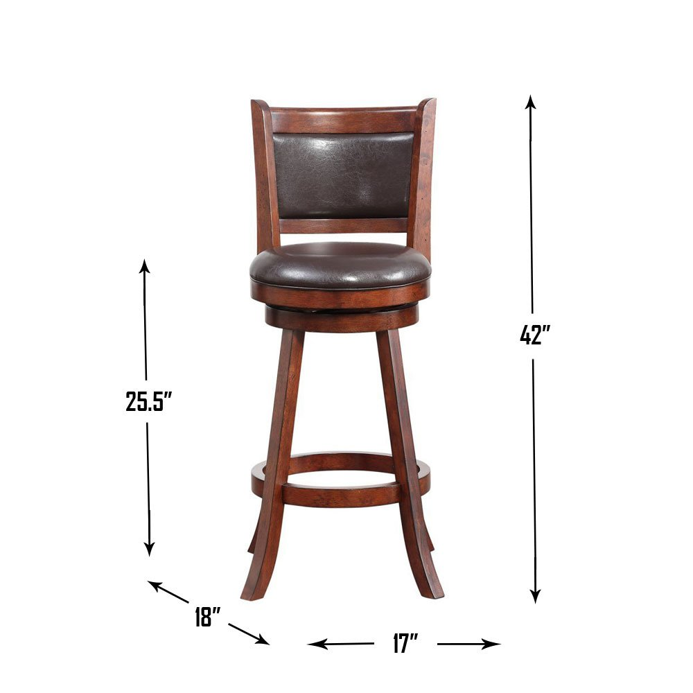 Boraam 66724 Rhea Counter Height Swivel Stool, 24-inch, Hazelnut