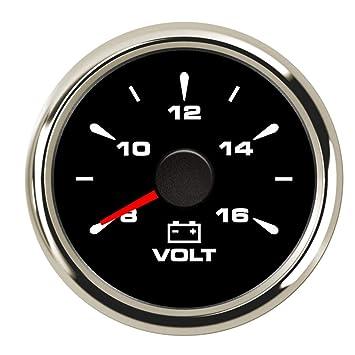 52mm IP67 Waterproof Voltmeter Marine Voltage Gauge Meter for Truck 8-32V Signal