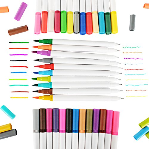 GC-Quill-Dual-Tip-Brush-Pen-Art-Markers-Set-with-Fineliner-Tip-04-Non-Toxic-Watercolor-for-Painting-Coloring-Journaling-Lettering-Calligraphy-36-per-Pack