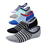 Spikerking Mens New Sports No Show Deodorant Socks 5 Pack Crew Socks(Size:10-12) (One Size, 5 Pack-5 Color)