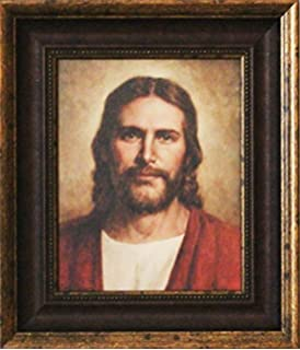 framed picture of jesus well done by del parson picture of jesus christ