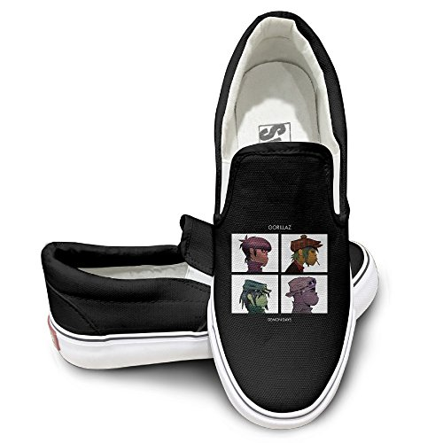 Gorillaz Demon Days Mens Casual Sneakers Canvas Classic Boat Shoes