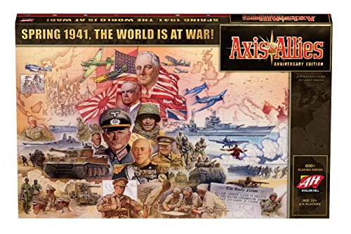 Avalon Hill Axis & Allies Anniversary Edition Strategy Board Game (Miniatures Axis Allies And)
