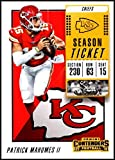 Football NFL 2018 Panini Contenders Season Tickets #51 Patrick Mahomes II NM Near Mint Chiefs