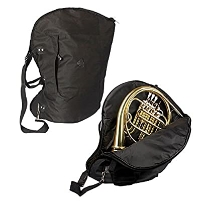 Glarry Fabric French Horn Case Instrument Portable Bag with Adjustable Single Shoulder Strap from Glarry