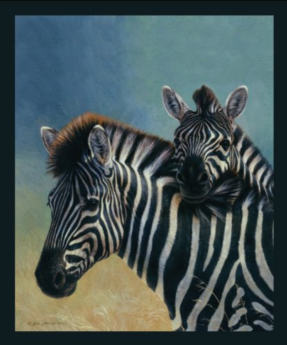 Signature Collection Two Zebra Soft Royal Plush Raschel Mink Blanket Queen (Signature Soft Blanket)