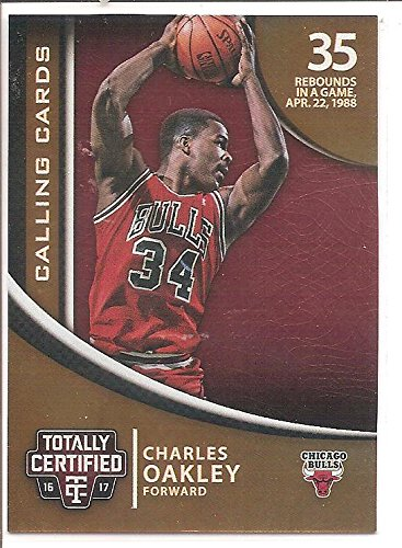 Charles Oakley Chicago Bulls 2016-17 Panin Totally Certified Calling Cards Basketball Card #38