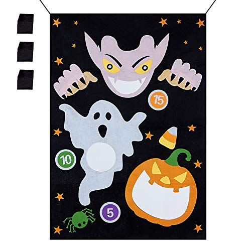 N&T NIETING Halloween Decorations Vampire Hanging Toss Game with 3 Bean Bags for Adults Kids Halloween Party ()