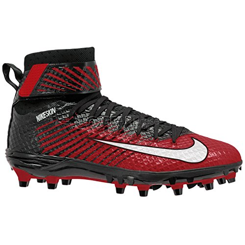 Nike Mens Lunarbeast Élite De Football Crampon Noir / Blanc / Rouge Universitaire