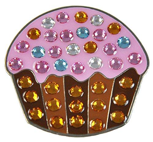 Navika Swarovski Crystal Golf Ball Marker & Hat Clip - Cupcake