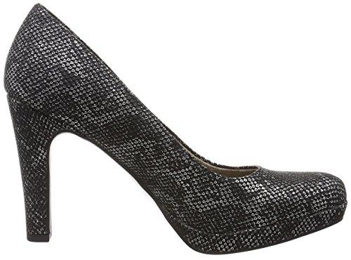 Tamaris 22426, Zapatos de Tacón para Mujer Negro (Black Struct. 006)