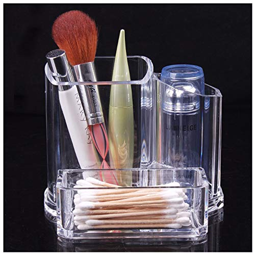 Hide on bush Makeup Organizer Clear Eyebrow Pencil Lipstick Brush Display Cosmetic Holder Stand (Clear)