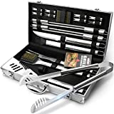 GRILLART BBQ Grill Utensil Tools Set Reinforced BBQ Tongs...