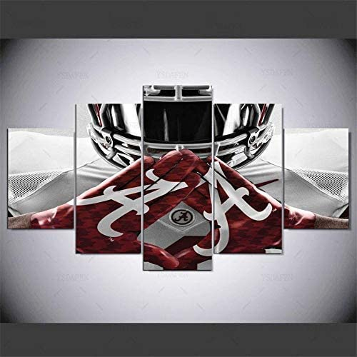 Lihuaiart Alabama Crimson Tide College Football Team Sport,Artwork Wall Art Home Wall Decoration