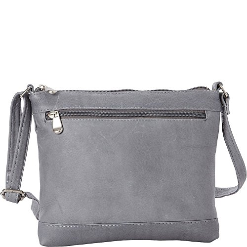 Leather Donne Savanna Crossbody Grey Le OWH8qp1wn