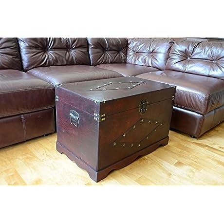Jamestown Chest Wooden Steamer Trunk Two Trunks