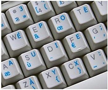 Griego pegatinas de teclado transparente con letras verde ...