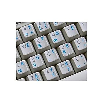 Griego pegatinas de teclado transparente con letras verde - apto para cualquier teclado: Amazon.es: Informática