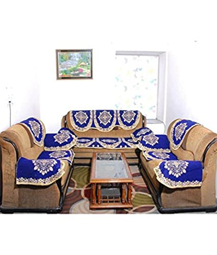 Rinki Home Furnishing Combo Designer Cotton Sofa Covers With Arms Covers    Pack Of 16 Piece
