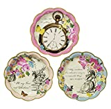 Kitchen & Housewares : Talking Tables TSALICE Alice In Wonderland Paper Plates Mad Hatter Tea Party, Small, Mixed colors