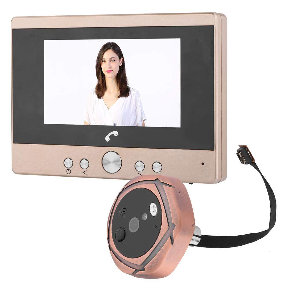 VBESTLIFE Digital Door Viewer, Monitor LCD TFT da 4.3 Pollici, Campanello per citofono Digitale, spioncino per la Sicurezza Domestica, 180 Giorni in Standby(EU Plug)