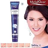Melaklear White Melasma Brightening Cream Enriched with Nano Alpha Arbutin UV Protection SPF 15 Dark Spot Corrector 30 G. : 3 Pack