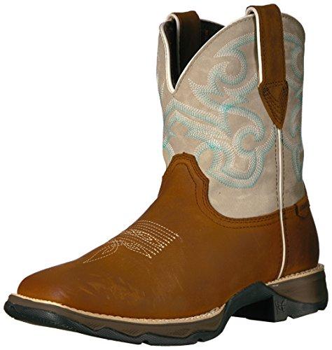 Durango Donna Drd0180 Western Boot Marrone Scuro / Crema