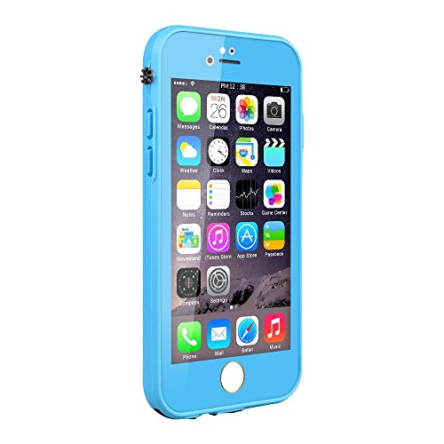 iPhone 6S Waterproof Case, Pandawell Slim Thin Light Dust Proof Snowproof Shockproof Case Full Body Protective Cover for Apple iPhone 6 / iPhone 6S 4.7 inch - Blue