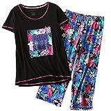 #4: ENJOYNIGHT Women's Sleepwear Tops with Capri Pants Pajama Sets