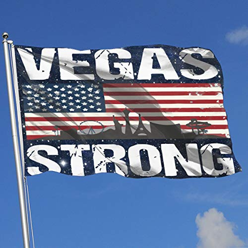 TAOHJS76 Custom Outdoor/HomeGarden Flag Vegas Strong 100% Polyester Single Layer Translucent Flags 3 X 5]()