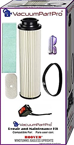 Hoover WindTunnel Bagless Upright Switch Repair and Maintenance Kit By Vacuum Part Pro - Bagless Upright Round Hepa Filter