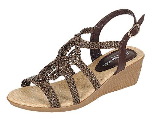 Brown 8 Womens Sandals - 6