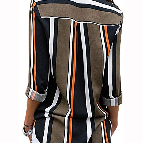 Top Mode Chic Shirt Col MORCHAN Button Ray Champion Longues Noir V Chemisier Top Multicolore Femme Tunique Chemise Classique Up Manches 1 Blouse Chemisier Chimie O8awUxO
