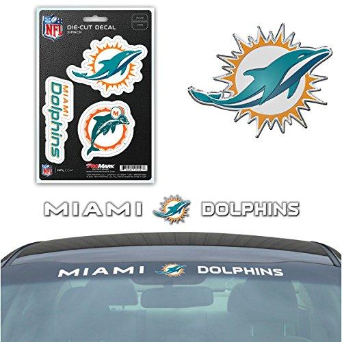 Miami Dolphins Team (Team ProMark NFL Miami Dolphins Exterior Auto Kit)